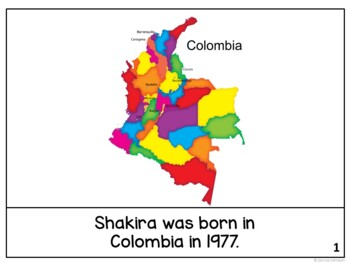 Shakira Reader {Hispanic Heritage Month} Organizer & Timeline {English Version}