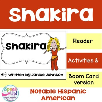 Shakira Reader {Hispanic Heritage Month} Organizer & Timeline {English Version}