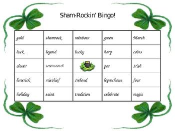 Sham-Rockin' St. Patricks Day Bingo