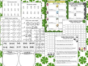 ShamROCKIN' St. Patrick's Day Printables: MATH and LITERACY