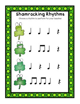 ShamRocking Rhythm Patterns: A Quick Rhythmic Assessment
