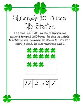Shamrock 10 Frame Clip Activity