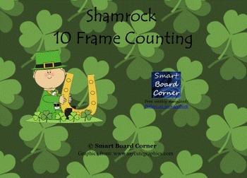 Shamrock 10 frame counting Smart Board Lesson