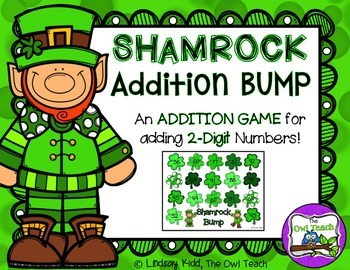 St. Patrick's Day Math Game:  2 Digit Addition Game