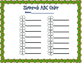 Shamrock ABC Order