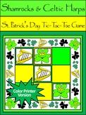 Shamrock Activities: Shamrocks & Celtic Harps Tic-Tac-Toe Game Activity Packet