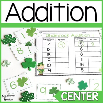 1.OA.6 St. Patrick's Day Fact Fluency Game