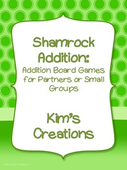 Shamrock Addition: 22 St.Patrick's Day board games (color and grayscale)