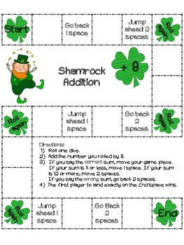 Shamrock Addition: 22 St.Patrick's Day board games (color