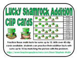 Shamrock Addition Clip Cards