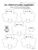 Shamrock Addition - Math Leveled Practice for Adding 2 and 3 Digit Numbers