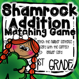 Shamrock Addition Matching Game