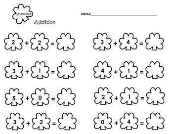 Shamrock Addition & Subtraction