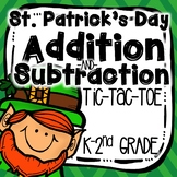 Shamrock Addition & Subtraction Tic-Tac-Toe