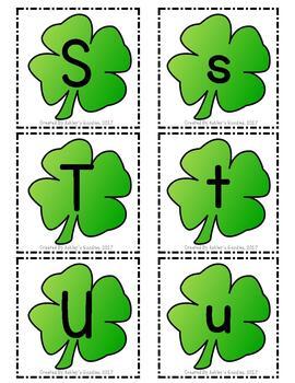 Shamrock Alphabet Cards (St. Patrick's Day)
