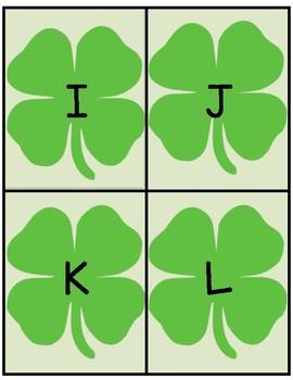 Shamrock Alphabet Flashcards
