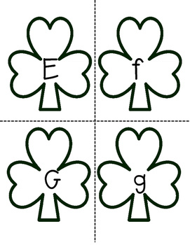 Shamrock Alphabet Match