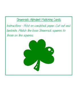 Shamrock Alphabet Matching Cards