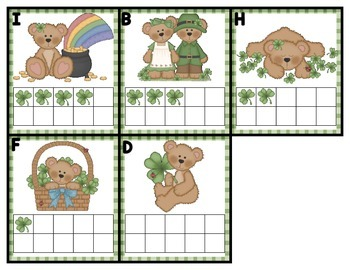 Shamrock Bears Make 10 Composing Numbers to 10 Kindergarten Module 4