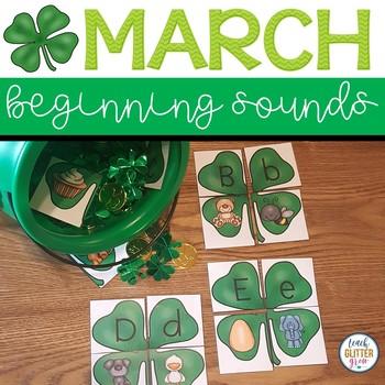 4 Leaf Clover Beginning Sound Puzzles