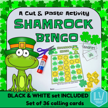 Shamrock Bingo, Cut & Paste
