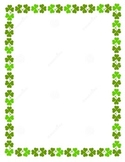 Shamrock Border Stationary Blank