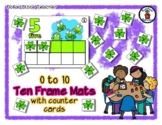 Shamrock Bug Friends - Insect Theme - Ten Frame Mats 0 to