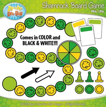 Shamrock Build A Board Game Clipart {Zip-A-Dee-Doo-Dah Designs}
