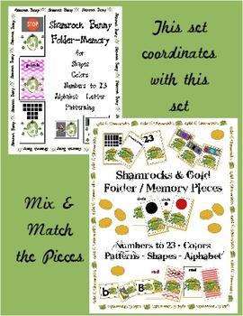 Shamrock Bunny St Patricks Day Center Activity Color Shape Pattern Number Letter
