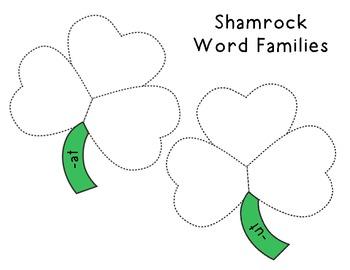 Shamrock CVC Word Families