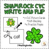 Shamrock CVC Word Write and Flip