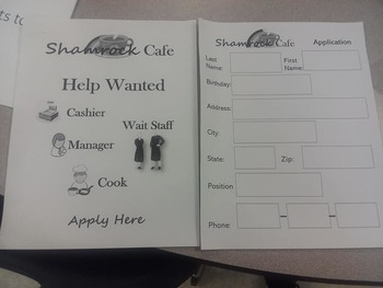 Shamrock Cafe: Life Skills Job Application Practice