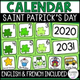 Shamrock Calendar Numbers Saint Patrick's Day