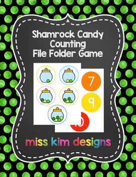 Shamrock Candy Counting File Folder Game for Special Education