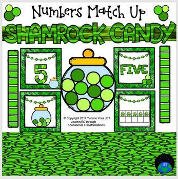 Shamrock Candy Numbers Match Up