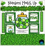 Shamrock Candy Numbers Match Up Math Center