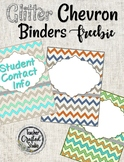 Glitter Chevron Binder Covers