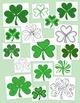 Shamrock Clip Art Bundle St. Patrick's Day PNG JPG Blackline Commercial Personal