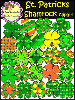 Shamrock Clip Art - St. Patrick's Day (School Design)