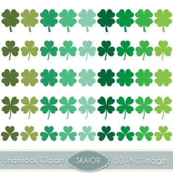 Shamrock Clipart St Patricks Day Vector Clover Clip Art Digital Scrapbooking