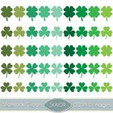 Shamrock Clipart St Patricks Day Vector Clover Clip Art Di