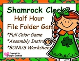 Shamrock Clocks Half Hour File Folder Game