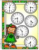 Shamrock Clocks Half Hour File Folder Game
