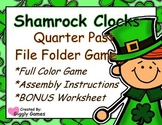 Shamrock Clocks Quarter Past File Folder Game