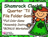 Shamrock Clocks Quarter 'Til File Folder Game
