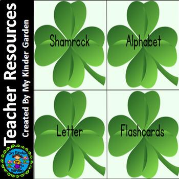 Shamrock Clover Alphabet Letter Flashcards Uppercase and Lowercase