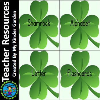 Shamrock Clover Alphabet Letter Flashcards Uppercase and Lowercase