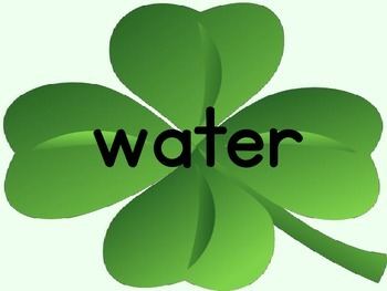 Shamrock Clover Fry List 4 From 1st 100 Sight Word Posters and Flashcards