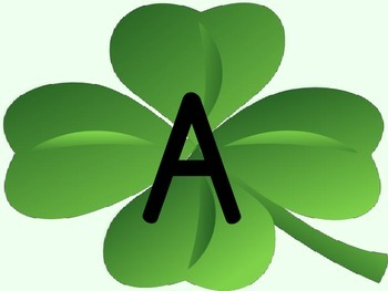 Shamrock Clover Full Page Alphabet Letter Posters Uppercase and Lowercase