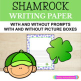 Shamrock, Clover: Primary Writing Paper - With Drawing Boxes & Without